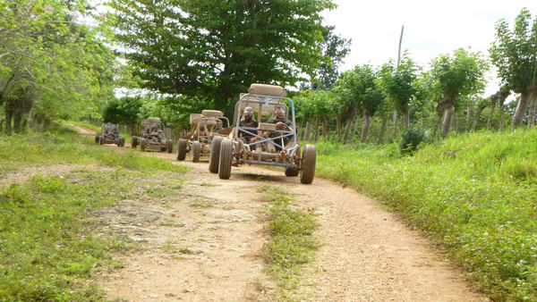 Enjoy driving your Dune Buggy on bumpy Punta Cana countryside roads