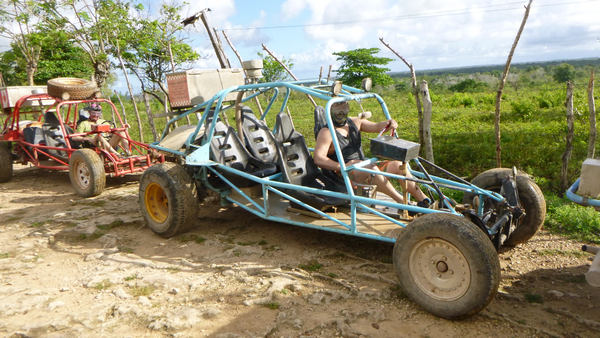awesome Xtreme-Buggy trip, driving your Dune Buggy on rural Punta Cana roads in Dominican Republic countryside